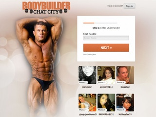 Bodybuilder Chat City Homepage Image