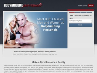 Bodybuilding Personals Homepage Image